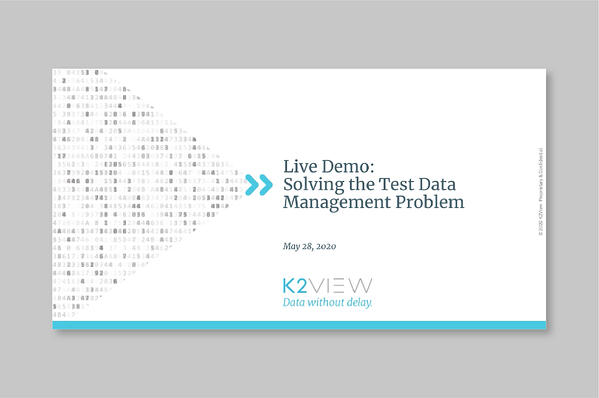 On Demand: Solving the Test Data Management Problem