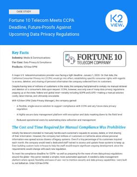 case study - Fortune 10 Telecom