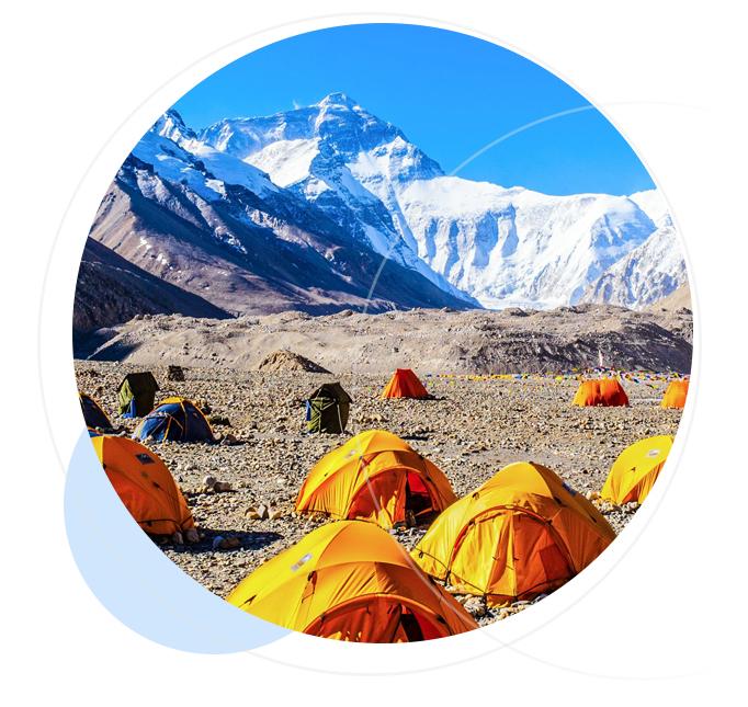 Bask camp at K2